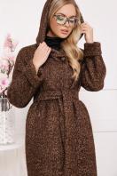 коричневое пальто на зиму. Пальто П-304-100 з. Цвет: 1224-коричневый цена