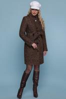розовое пальто на пуговицах. пальто П-332 з. Цвет: 1224-коричневый купить