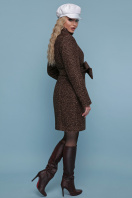 розовое пальто на пуговицах. пальто П-332 з. Цвет: 1224-коричневый цена