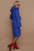 коричневое пальто на зиму. Пальто П-304-100 з. Цвет: 1226-электрик купить