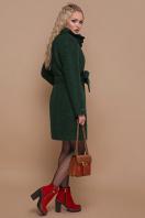 розовое пальто на пуговицах. пальто П-332 з. Цвет: 1225-темно-зеленый цена