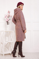 коричневое пальто на зиму. Пальто П-304-100 з. Цвет: 1208-розовый купить