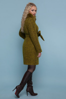 зимнее пальто с мехом. пальто П-332 зм. Цвет: 1222-карри купить