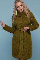 зимнее пальто с мехом. пальто П-332 зм. Цвет: 1222-карри цена