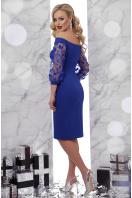 изумрудное платье с прозрачными рукавами. платье Розана д/р. Цвет: электрик купить