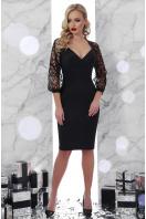 черное платье с кружевными рукавами. платье Флоренция д/р. Цвет: черный купить