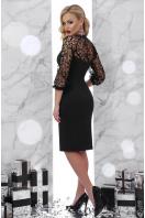 черное платье с кружевными рукавами. платье Флоренция д/р. Цвет: черный цена