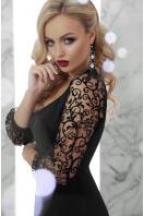 черное платье с кружевными рукавами. платье Флоренция д/р. Цвет: черный в интернет-магазине