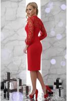черное платье с кружевными рукавами. платье Флоренция д/р. Цвет: красный цена