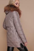 бежевая куртка с капюшоном. Куртка 18-073. Цвет: кофе цена
