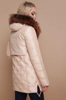 бежевая куртка с капюшоном. Куртка 18-073. Цвет: бежевый цена