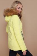 укороченная синяя куртка. Куртка 18-129. Цвет: желтый купить