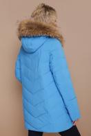 синяя куртка с меховой опушкой. Куртка 18-182. Цвет: голубой купить