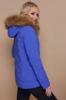 укороченная синяя куртка. Куртка 18-129. Цвет: электрик цена
