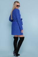 ярко-синее пальто без воротника. пальто П-337. Цвет: 1226-электрик цена
