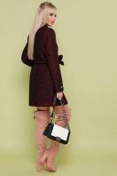 черное пальто на весну. пальто П-337. Цвет: 1216-бордо купить