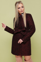 черное пальто на весну. пальто П-337. Цвет: 1216-бордо цена