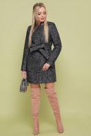 черное пальто на весну. пальто П-337. Цвет: 1202-черный купить