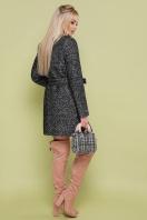 женское пальто цвета электрик. пальто П-337. Цвет: 1202-черный цена