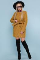 женское пальто цвета электрик. пальто П-337. Цвет: 1223-горчица купить
