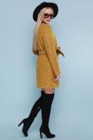 женское пальто цвета электрик. пальто П-337. Цвет: 1223-горчица цена