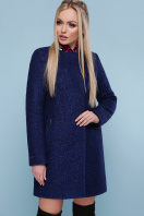 черное пальто на весну. пальто П-337. Цвет: 1227-темно-синий цена