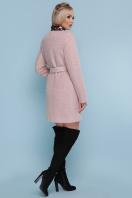 ярко-синее пальто без воротника. пальто П-337. Цвет: 1605-розовый цена