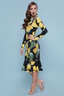 платье с цветочным принтом и воланом внизу. Тюльпаны желтые платье Фаина д/р. Цвет: черный купить