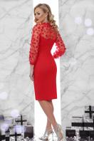 вечернее красное платье футляр. платье Флоренция 2 д/р. Цвет: красный цена