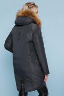 темно-зеленая куртка с мехом. Куртка 827. Цвет: зеленый купить