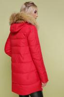 красная куртка с мехом. Куртка 890. Цвет: красный купить
