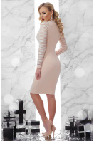 бежевое платье с декольте. платье Патриция д/р. Цвет: св. бежевый цена