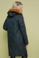 черная куртка с меховой опушкой. Куртка 812. Цвет: зеленый купить