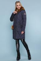 синяя куртка с мехом. Куртка 812. Цвет: синий купить