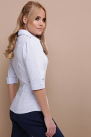 . блуза Камила к/р. Цвет: голубая м.полоска цена
