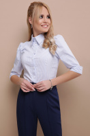 . блуза Камила к/р. Цвет: голубая м.полоска в интернет-магазине