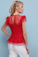 черная блузка с баской. блуза Лайза б/р. Цвет: красный купить