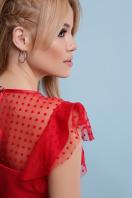 черная блузка с баской. блуза Лайза б/р. Цвет: красный цена