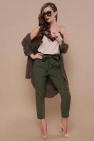 брюки 7/8 цвета хаки. брюки Челси. Цвет: хаки в интернет-магазине