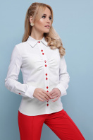 . блуза Эвита д/р. Цвет: белый-красная отделка купить