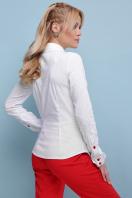 . блуза Эвита д/р. Цвет: белый-красная отделка цена