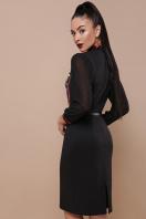 облегающее платье с маками. Маки платье Лилианна д/р. Цвет: черный купить