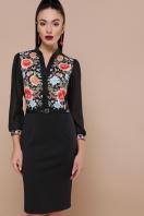 черное платье с цветами. Розы платье Лилианна д/р. Цвет: черный купить