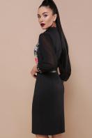 черное платье с цветами. Розы платье Лилианна д/р. Цвет: черный цена