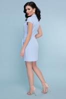 голубое платье с коротким рукавом. платье Полина к/р. Цвет: голубой купить
