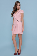 голубое платье с коротким рукавом. платье Полина к/р. Цвет: персик купить