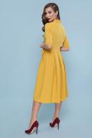 платье цвета хаки с коротким рукавом. платье Ангелина к/р. Цвет: горчица цена