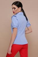 голубая блузка с рюшами. блуза Маргарита к/р. Цвет: голубой цена