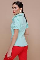 голубая блузка с рюшами. блуза Маргарита к/р. Цвет: мята цена