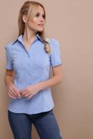 . блуза Эльза к/р. Цвет: голубой в Украине